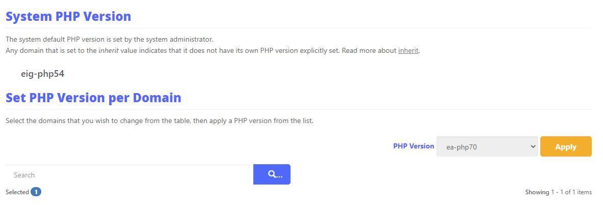 Php Version update