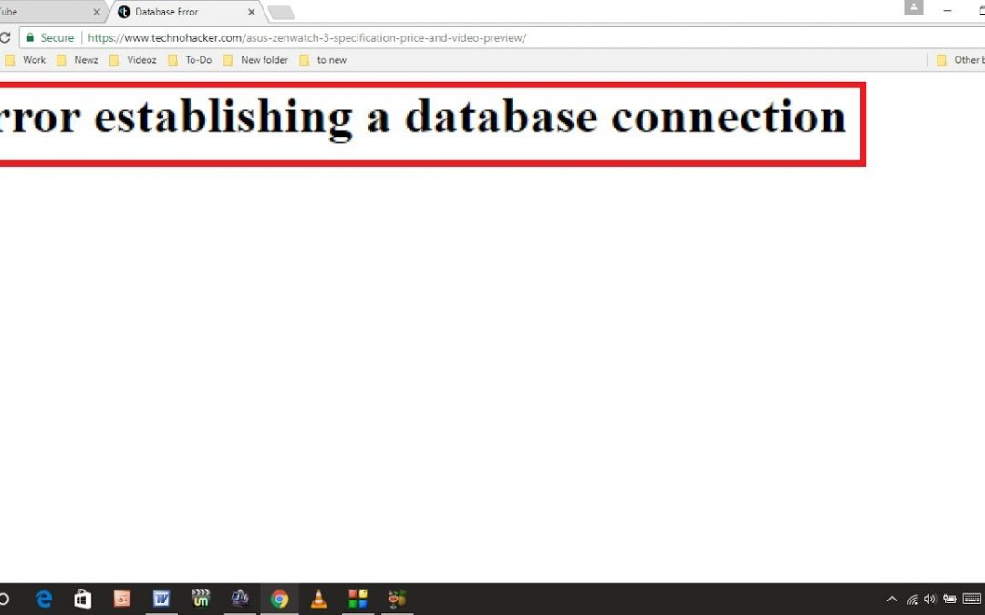 How to fix the error by establishing a connection to the WordPress database